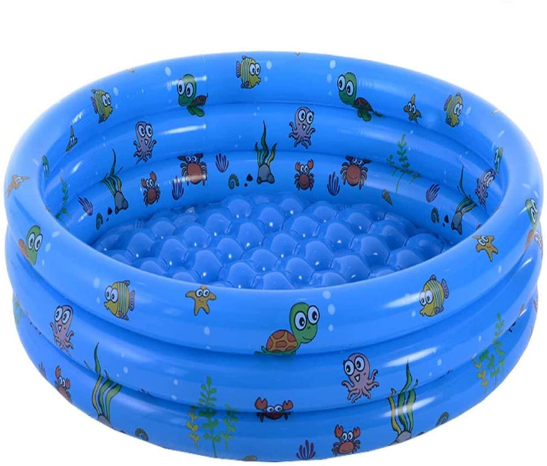"Aqiku Garden Round Inflatable Kiddie Pools, 51""X15"" Portable Baby Swimming Pool, Paddling Pump Pool, Indoor Outdoor Toddlers Water Game Blow Up Pool for Kids Girl Boy"