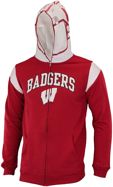 Outerstuff NCAA Big Boys Youth Full Zip Helmet Masked Hoodie, Pick Team
