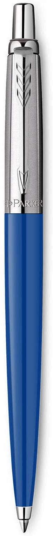 Parker Jotter Ballpoint Pen, Blue Finish with Chrome Trim, Medium Point, Blue Ink, 1 Count