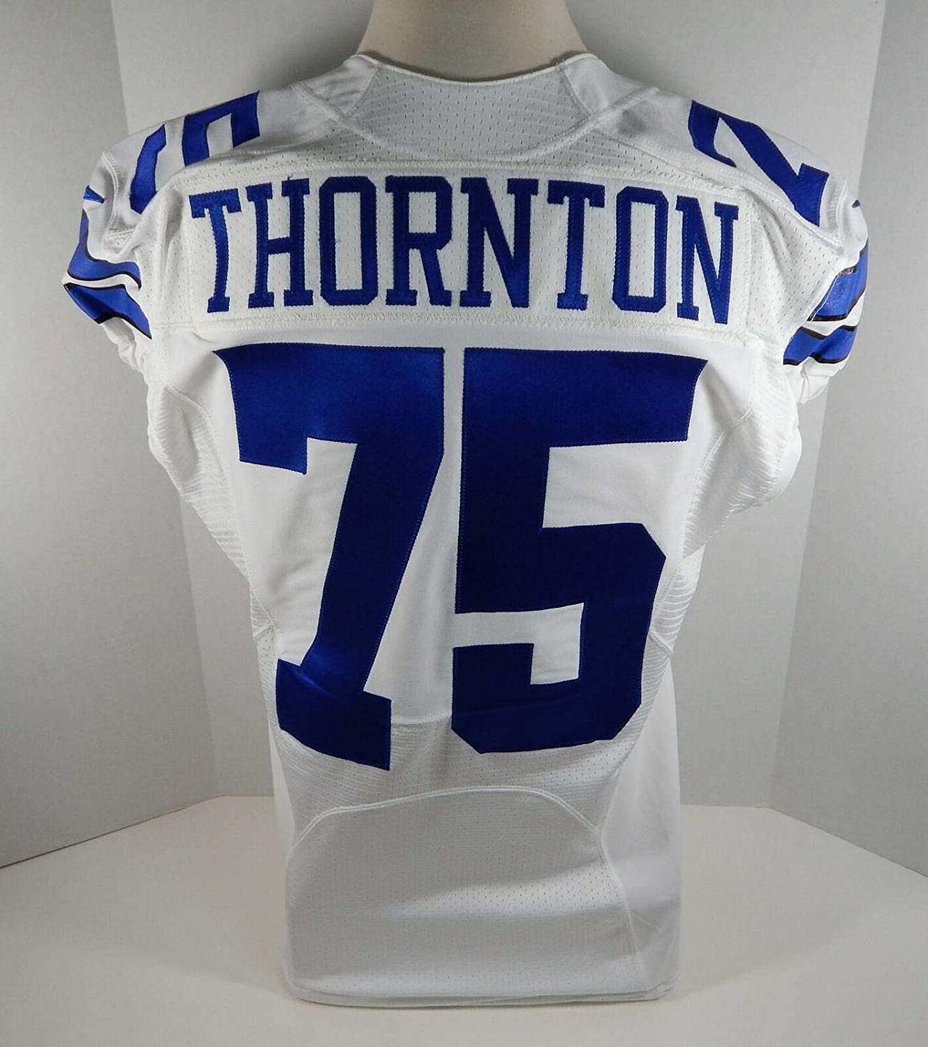 2015 Cowboys Cedric Thornton #75 Game Issued White Jersey DAL00123 - Unsigned NFL Game Used Jerseys