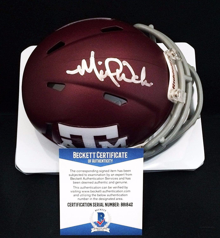 St Louis Cardinals Michael Wacha Signed Texas A&M Football Mini Helmet BAS - Autographed MLB Mini Helmets