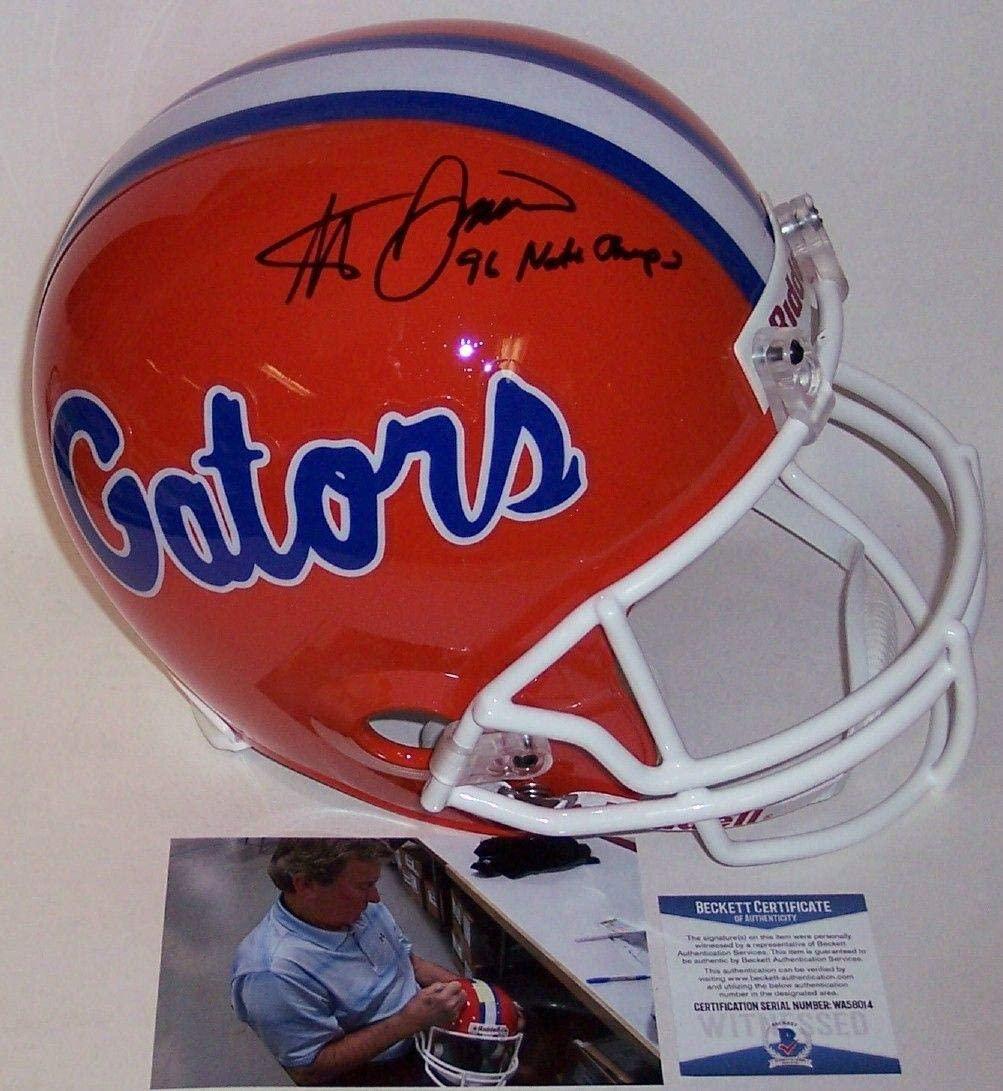Steve Spurrier Autograhed Hand Signed Florida Gators Full Size Helmet - BAS Beckett Authentication - Autographed College Helmets