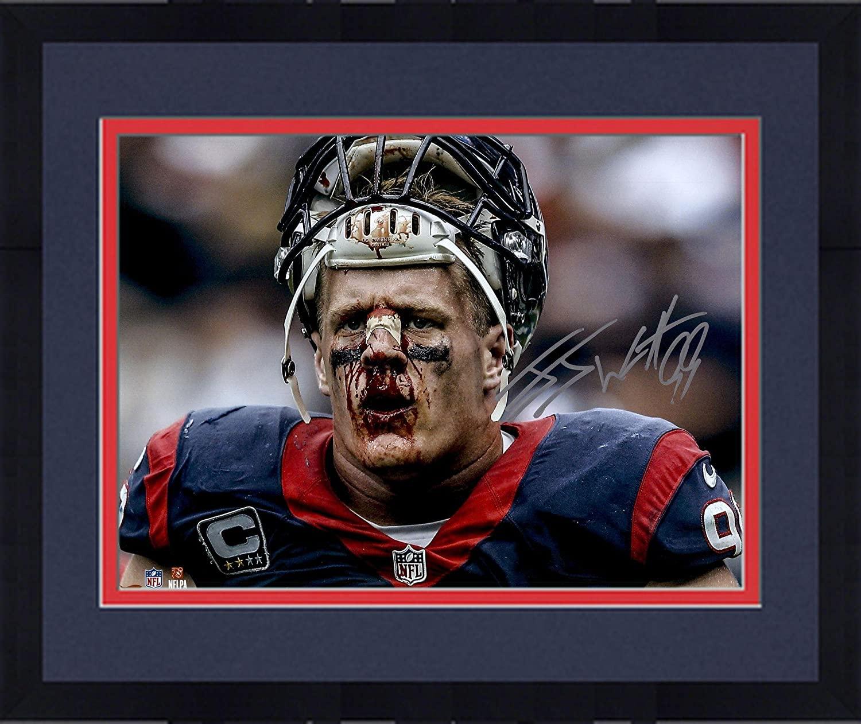 Framed J.J. Watt Houston Texans Autographed 16
