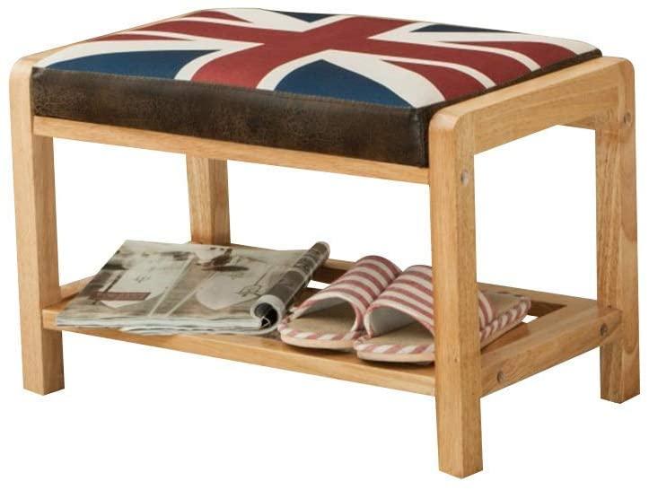 YWYW Solid Wood Shoe Bench Belt Cushion Furniture Corridor Living Room Bedroom (Color: Cc-001)