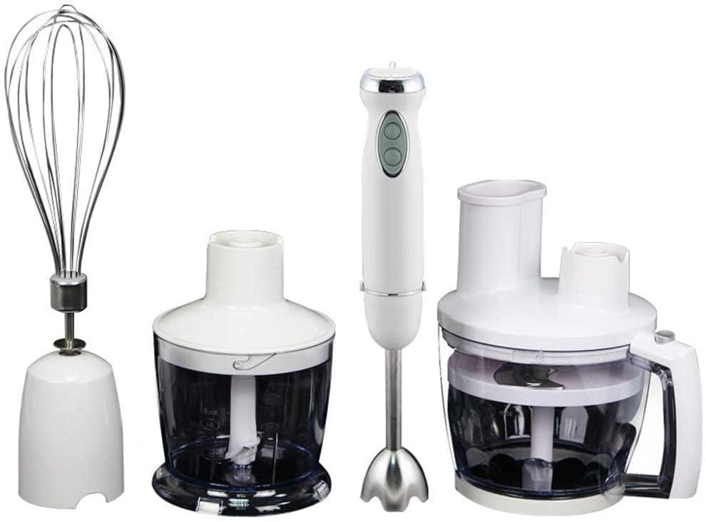XIAO WEI 3-in-1 Hand Blender Set Kitchen Hand Mixer Stainless Steel Hand Mixer Mixer 850W Mixer Mixer Chopper Food Processor Hand Mixer 600ml Container Mug