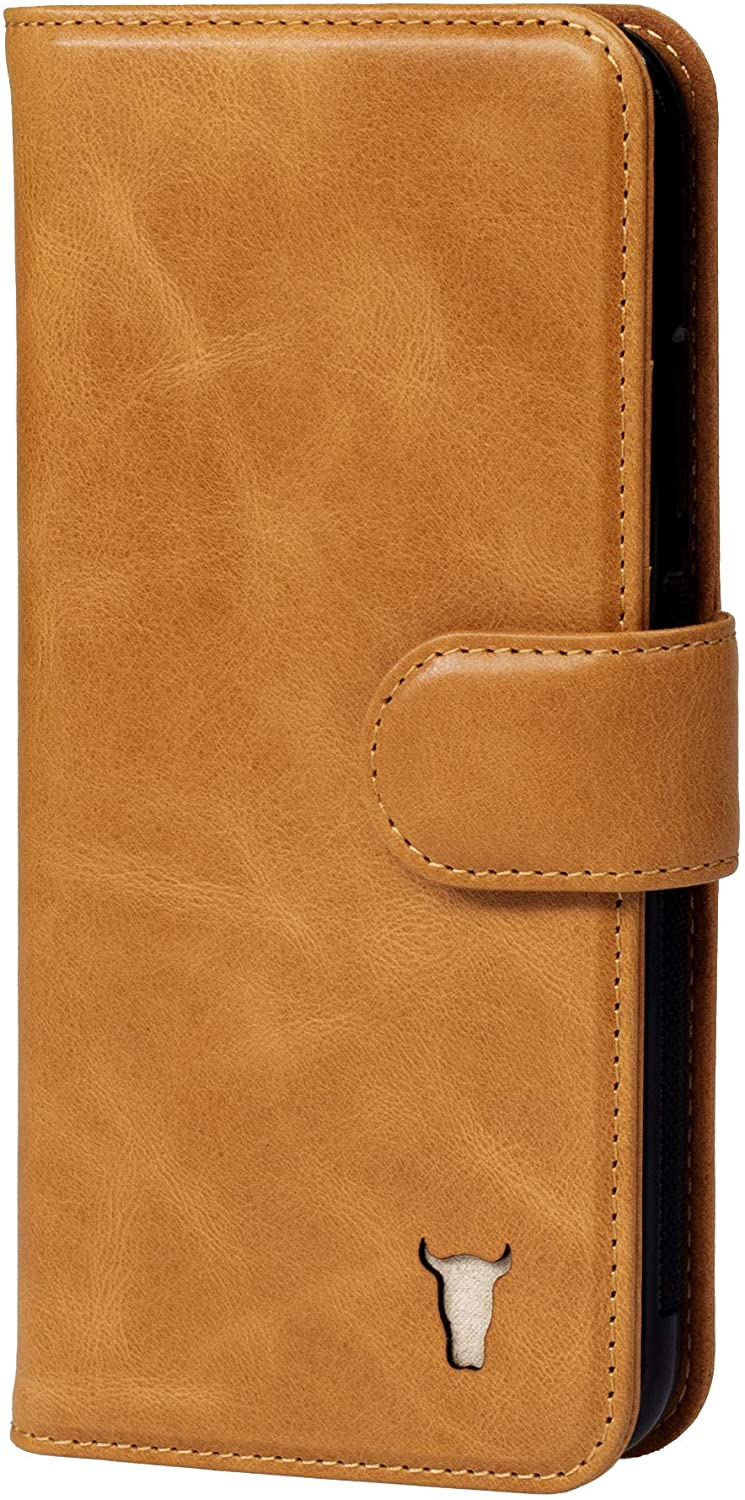 TORRO Cell Phone Case Compatible with Apple iPhone 11 Genuine Quality Leather Wallet Cover with [Card Slots] [Horizontal Viewing Stand] [Durable Frame] 6.1 Inch 2019 Release (Tan)
