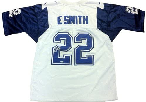Emmitt Smith Autographed/Signed Dallas Custom Triple Stitched Jersey