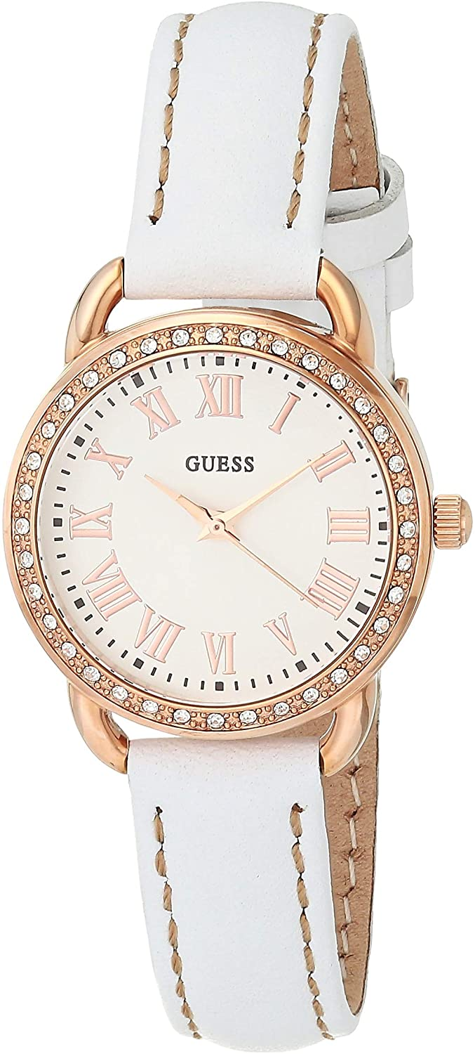 GUESS Fifth Ave W0959L3 White/Rose Gold Tone/White One Size