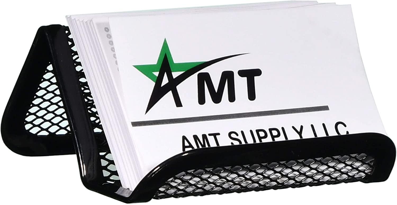 AMT Business Card Holder Desk Desktop Business Card Holder Mesh (1 Pack)