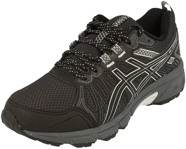 ASICS Gel-Venture 7 Womens Running Trainers 1012A476 Sneakers Shoes (UK 5.5 US 7.5 EU 39, Black Piedmont Grey 002)