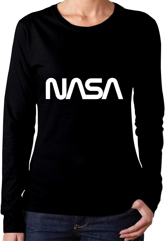 AP.Room NASA Women's Crew Neck Sweatshirt Blouse T Shirt Long Sleeve T-Shirts