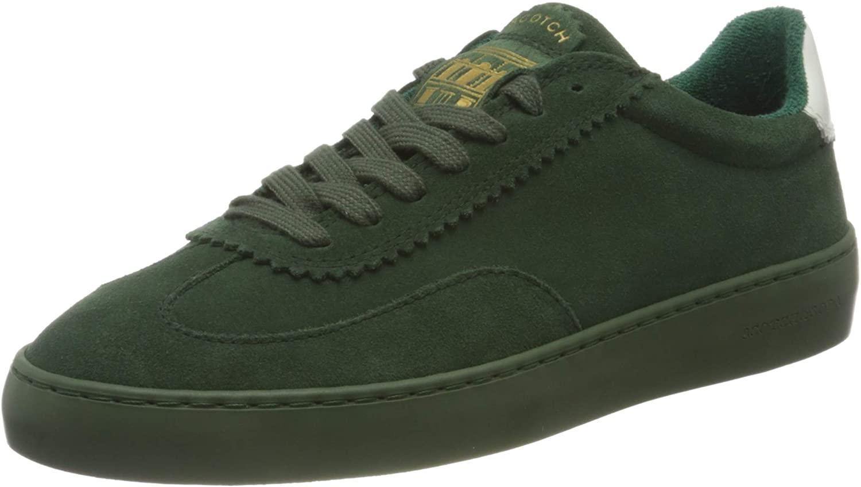 SCOTCH & SODA FOOTWEAR (SCPGH) Men's Low-Top Sneakers, Army Green, Womens 10