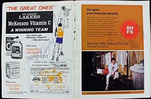 Lakers Wilt Chamberlain, Jerry West & Gail Goodrich Signed Program PSA #S11209 - Autographed NBA Magazines