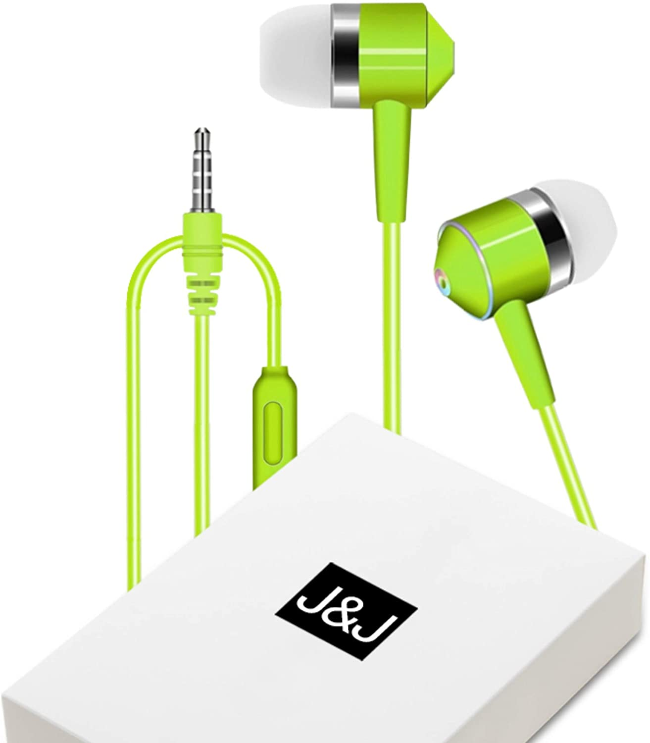 All-New TPE Earbuds Earphones Headphones in-Ear/Mic, Noise Isolating, Fits All 3.5mm Devices, HD Stereo Sound for Samsung, iPhone,iPad, iPod, Android Phones, Mp3 Players w/Bonuses - SupFabPal (Green)