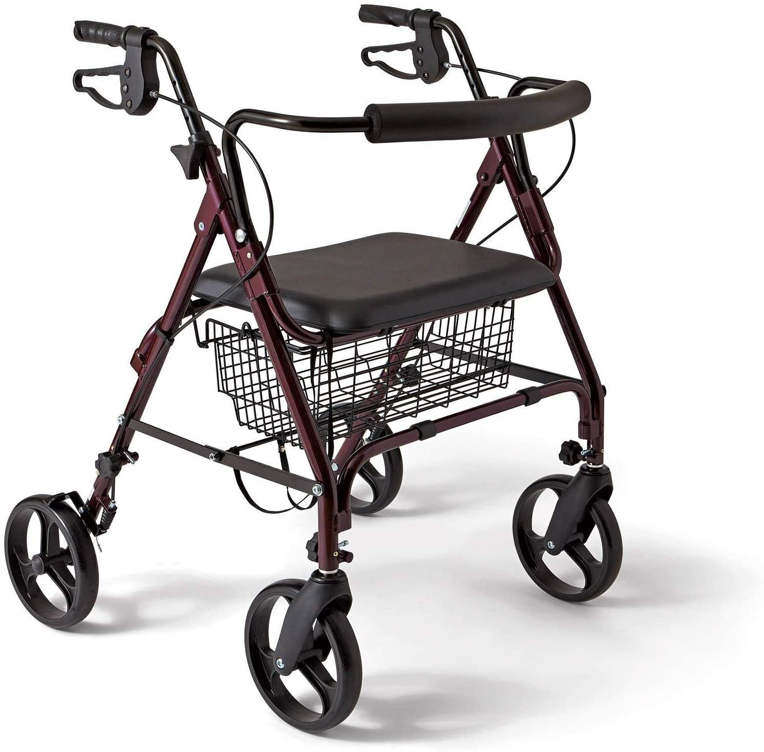 MISC 4-Wheel Rollator Walkers Sitting Standing Rollatator 4-Wheeled Basket Senior Stand Sit Mobility Rollater Walker Folding Small Seniors Rollator-Walker