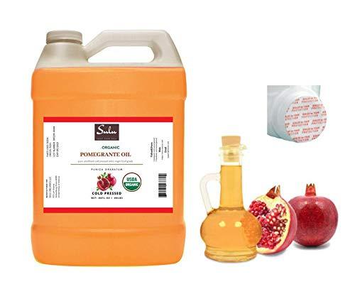 1 GALLON of 100% Pure Organic Cold Pressed Unrefined Pomegranate Seed Oil