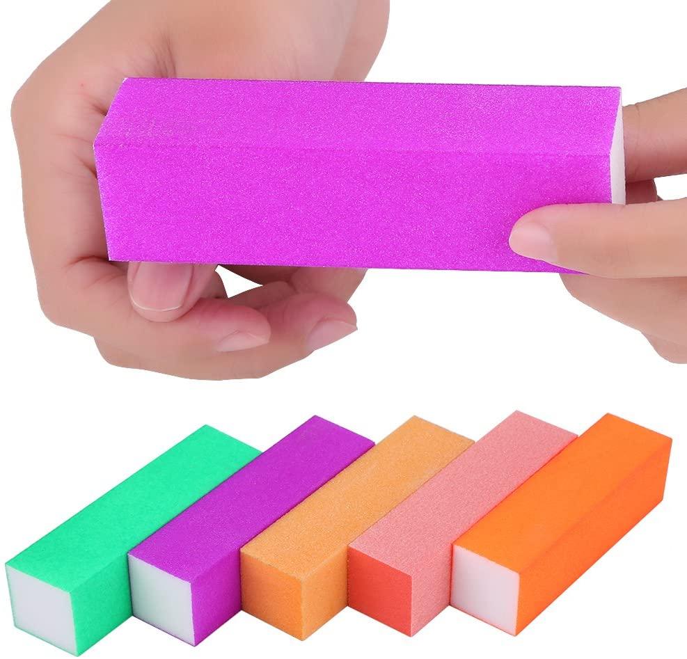 Sponge Nail Art File Buffer Blocks Dead Skin Removers Sanding Manicure Polish Tools 5 Pcs
