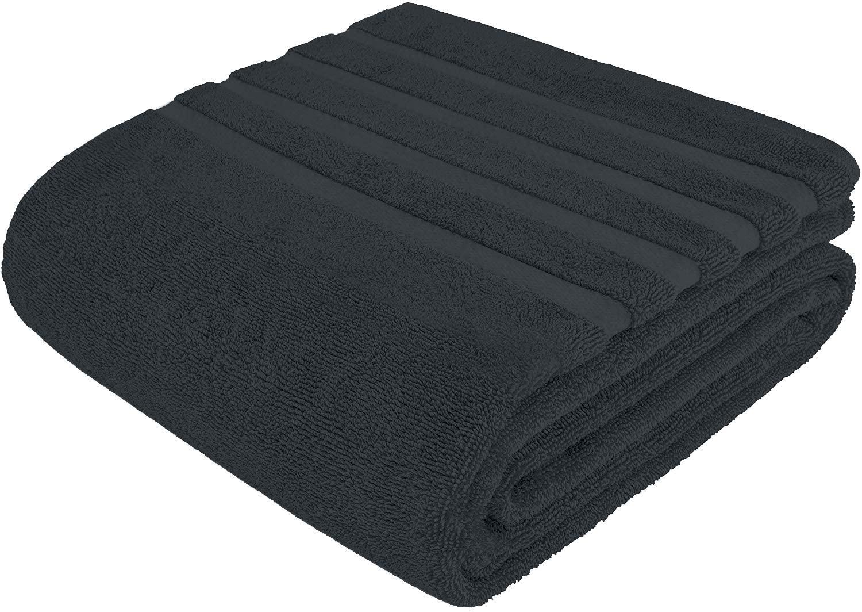 100% Cotton Bath Sheet Set of 2–Super Soft Bath Sheets 35x70–Gray Bath Sheet Towel Set–Oversized Bath Towels–Quick Dry Bath Sheets–Super Absorbent Bath Sheets–Bath Sheets Spa Hotel Collection