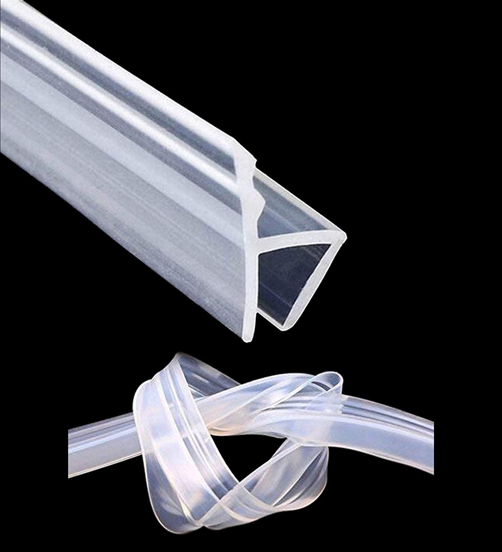 KRLIFCSL Glass Door Seal Strip, 10ft Frameless Weather Stripping Shower Door Sweep, Weatherproof Silicone Seal Fit for 3/8
