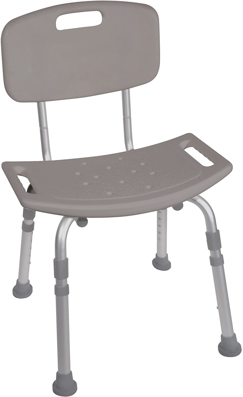 Lumex Bath Seat With Back Standard  Gray