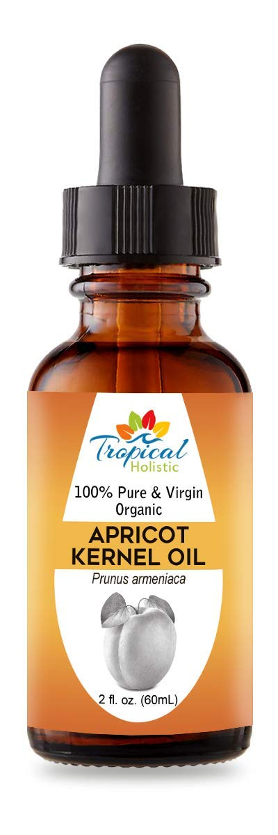 100% Pure Organic Apricot Kernel Oil 2 oz - Turkey Natural & Cold-Pressed Apricot Oil - Ideal for Massage, Skincare,Hair,Body, Cooking and Aromatherapy For Men & Women