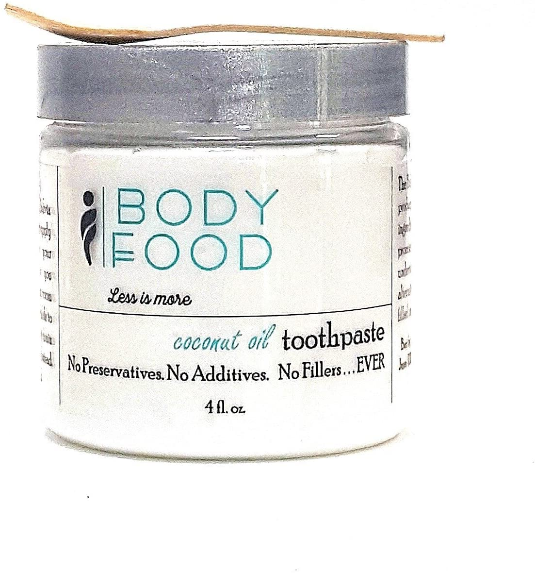 Body Food Whipped Toothpaste, Coconut Oil, 4 oz.