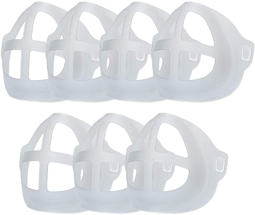 7 PC+4 Mask Adjustment Buckle 3D Mask Bracket,Mask Inner Support Frame,Reusable Silicone Face-Bandanas Bracket Lipstick Protection Stand for Mouth Coverings Enhance Breathing Space for Nose and Mouth