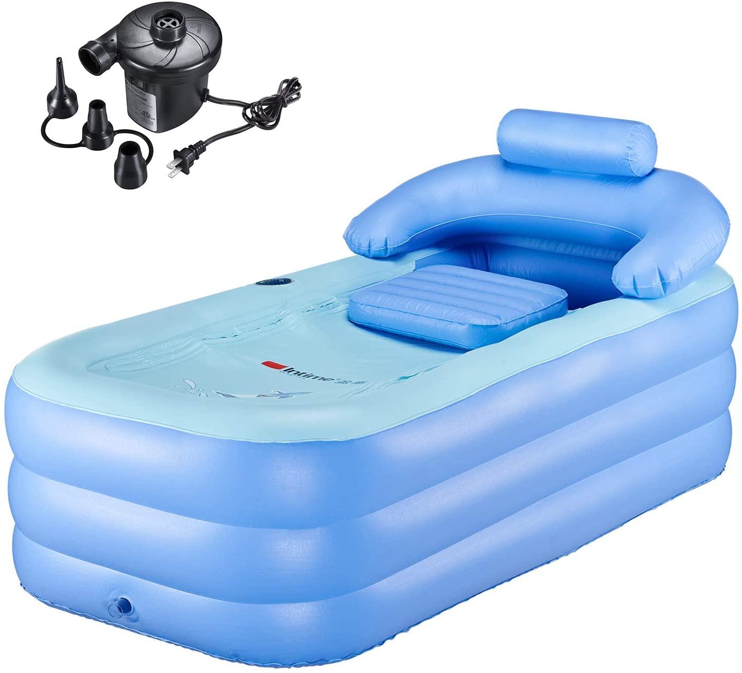PENSON & CO. Inflatable Bath Tub PVC Portable Bathtub for Adult Bathroom SPA with Electric Air Pump