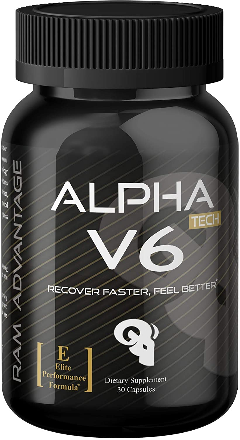 150 MG 5-HTP Optimized with Ashwagandha and B6 Supplement | Enhanced Recovery, Serotonin Boost, Stress Relief and Sleep Support | Alpha V6 by RAM ADVANTAGE | 30 Veg caps