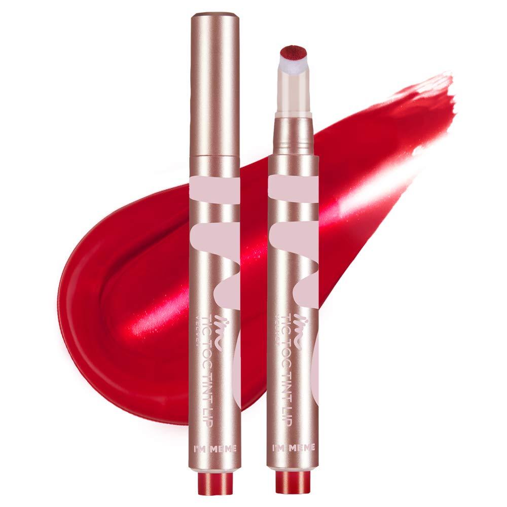 I'M MEME I'M Tictoc Tint Lip Velvet | Velvet-Matte Lip Stain | 003 Daring Red | K-Beauty