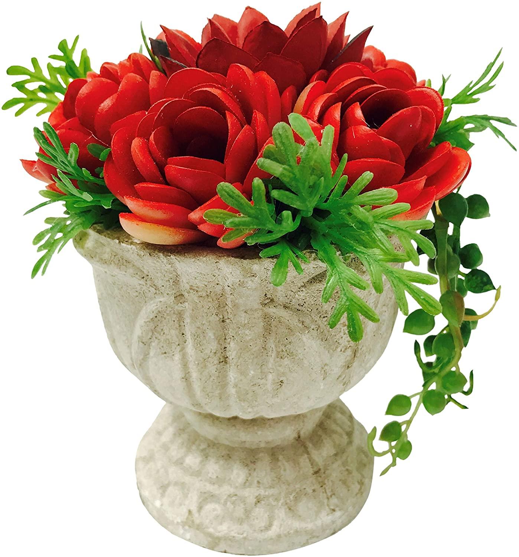 Artificial Potted Plants in Flower Arrangements - Fake Succulent Plants in Pots for Home Decor Indoor Faux Succulent Flowers for Office Desk Artificial Potted Flowers & Plants for Wedding Decorations