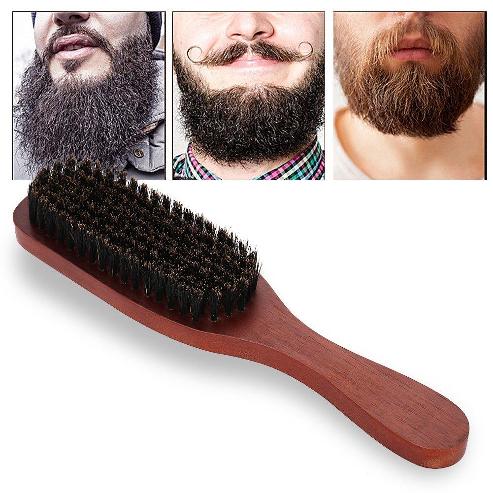 Shaving Brush, Men Professional Facial Shaving Beard Brush Mustache Cleaning Barber Salon Appliance Tool