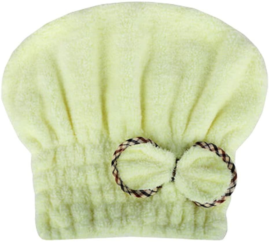Blancho Bedding Absorption Soft Turban Lovely Bowknot Shower Cap Bath Hair Dry Towel 9.84