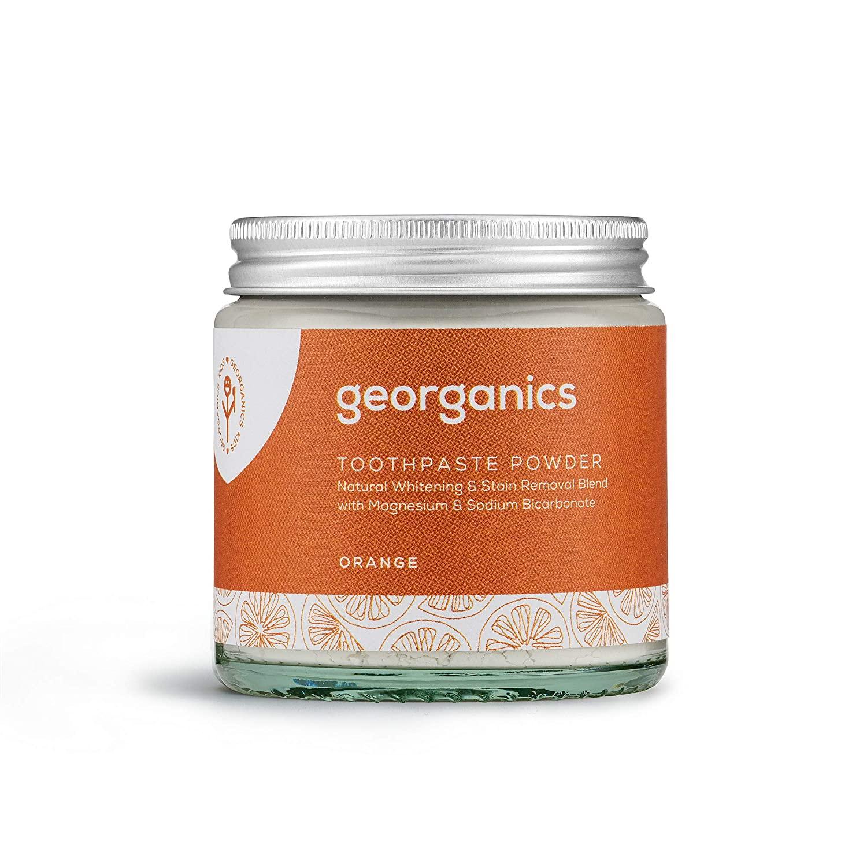 Georganics | Natural + Vegan Toothpowder, Whitening + Stain-Removing Formula, Orange, 120ml / 4oz