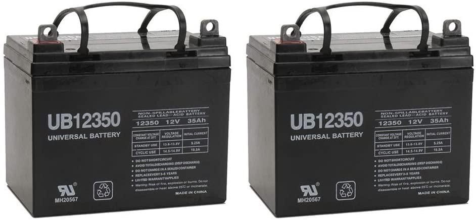 Universal Power Group 12V 35AH Battery for 4 Wheel Scooter SC-S145-400 - 2 Pack