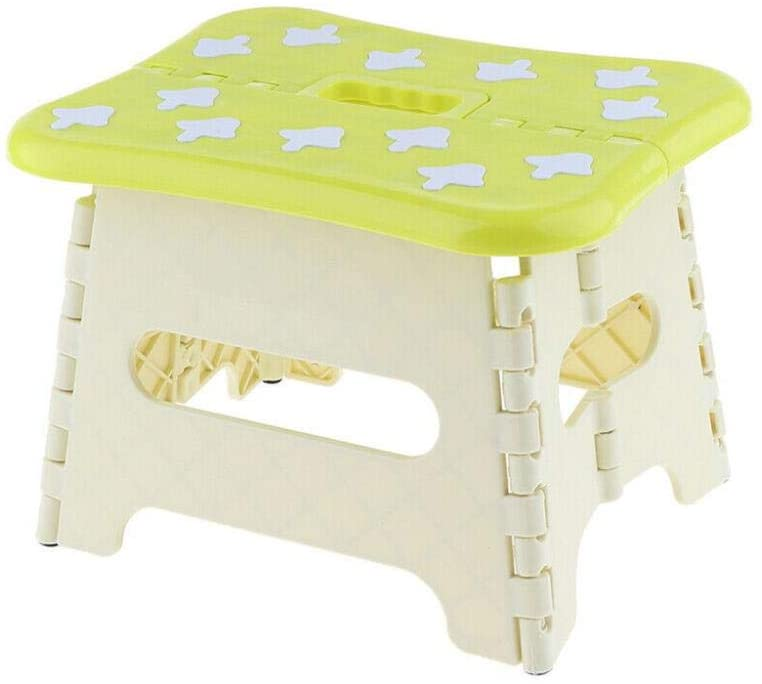 Drummond Folding Step Stool for Kids, Works Great Foldable Stools for Kids, Toddlers and Adults,Folding Step Stool,Green Size S
