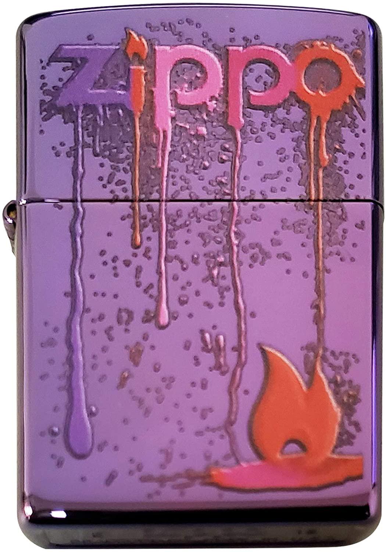 Zippo Custom Lighter - Melting Dripping Zippo Colors - Regular Abyss - Gifts for Him, for Her, for Husband, for Wife, for Them, for Men, for Women
