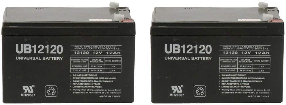Universal Power Group 12V 12Ah Battery for Zipr3 Traveler Mobility Scooter - 2 Pack