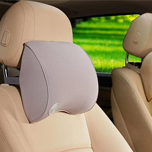 Yopria Universal Car Neck Pillow - Driving Comfortable Soft Memory Foam Auto Seat Headrest - Protect Neck&Vertebra - Fit Travel/Office/Home/Car - Neck Guard Artifact Gray