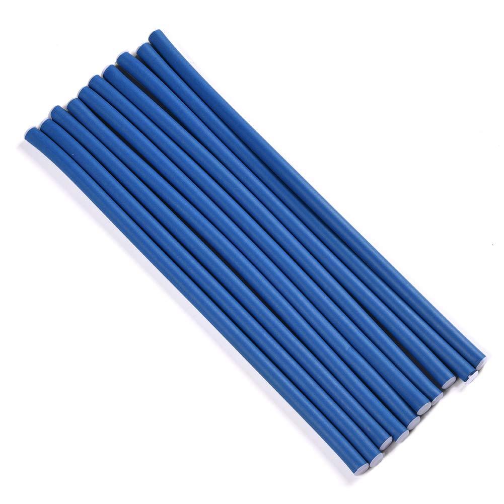 2 Pack Spiral Hair Foam Curler Roller Set, Daimeter 0.8cm 10 Rods per Pack Twist Curls Flex Rods, Length 9.5