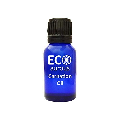 Carnation Essential Oil (Dianthus caryophyllus) 100% Natural, Organic, Vegan & Cruelty Free, Pure By Eco Aurous With Euro Dropper.(15 ml(0.50 oz)