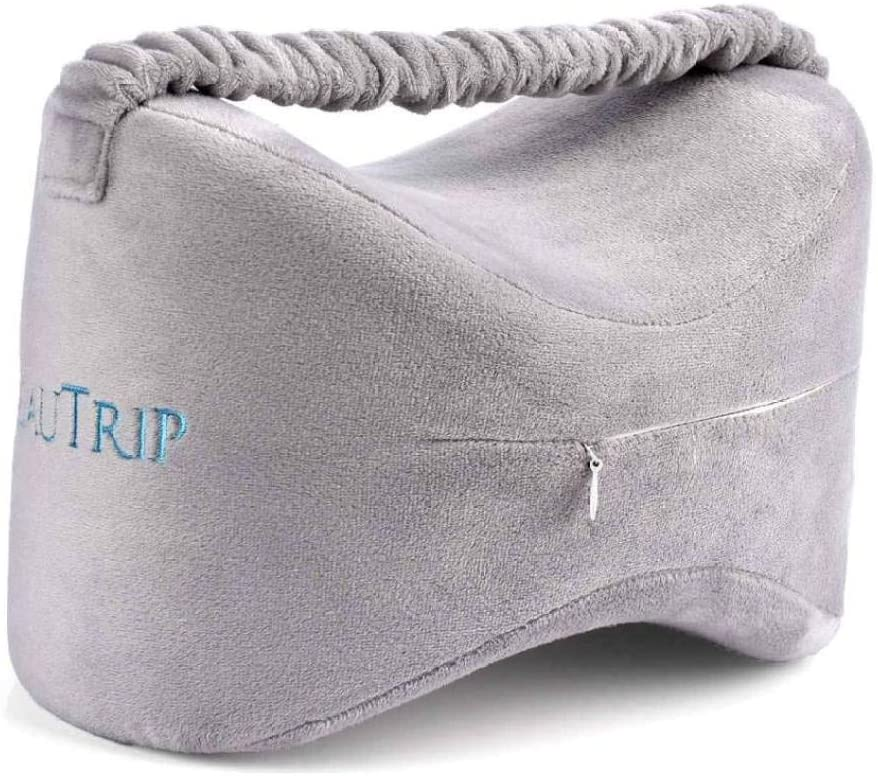 ASO-SLING Memory Foam Knee Pillow for Side Sleeper Sciatica Pain Relief Leg Pillow Comfy Sleeping Pillow with Leg Strap