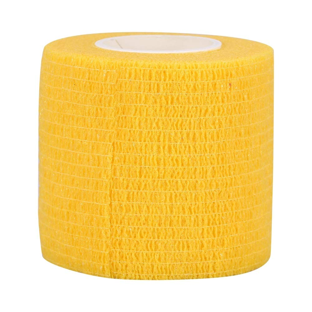 Tattoo Bandage - Tattoo Accessory Self Adhesive Elastic Bandage Finger Protection Wrap Sport Tape (Color : Yellow)