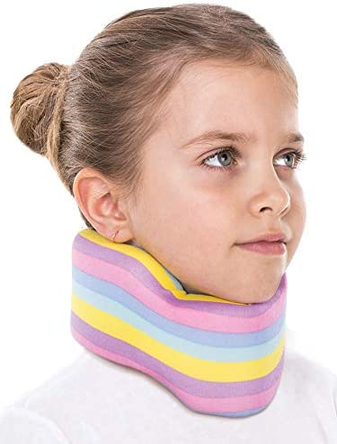 REMEDICA Neck Support Brace/Cervical Collar /100% Cotton X-Small Colorful