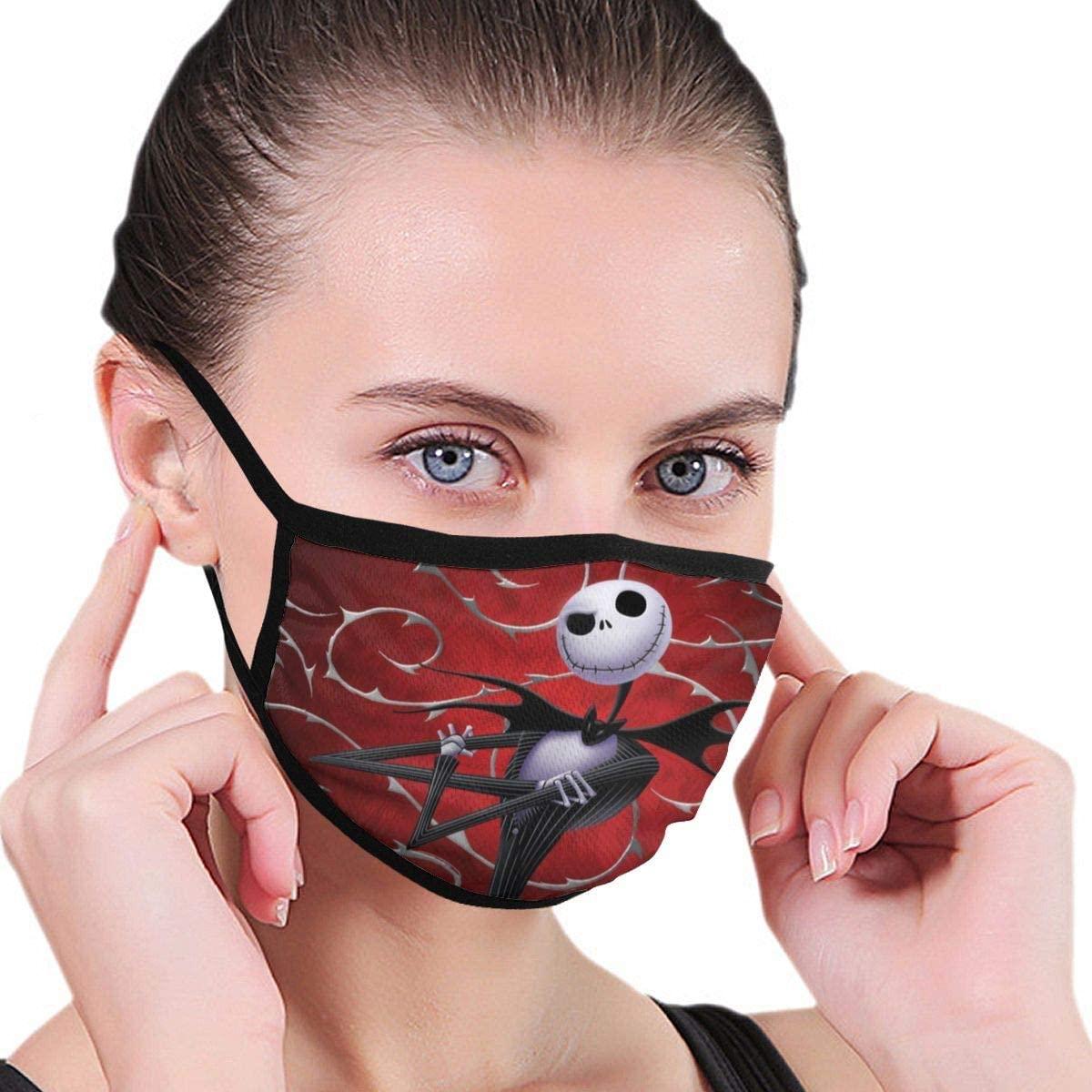 Kids Reusable Night-mare Before Christmas Face Bandanas Breathable Cute Print Cotton Children Face Shield