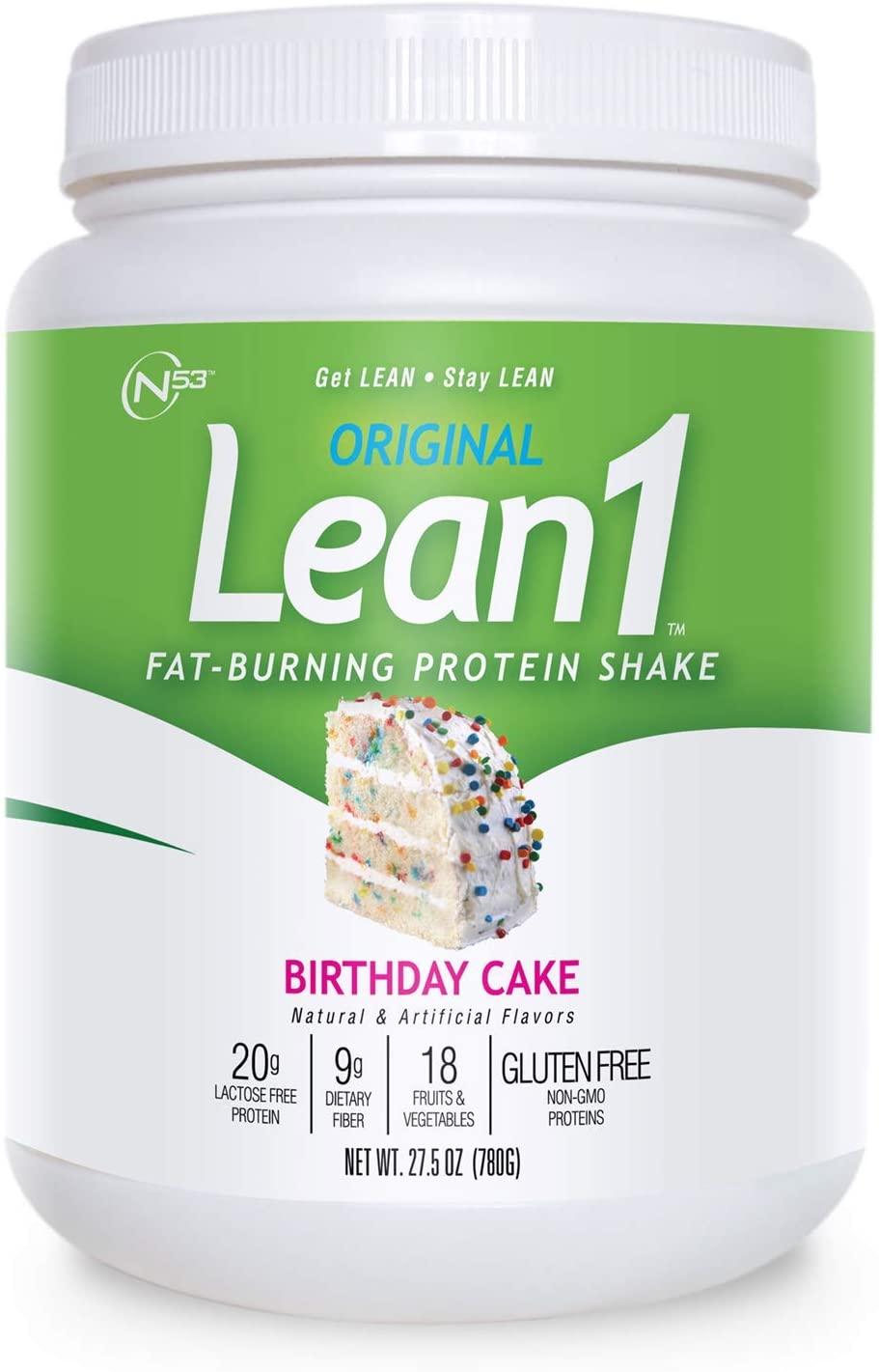 LEAN1 Nutrition 53, Birthday Cake, 27.5 Ounce
