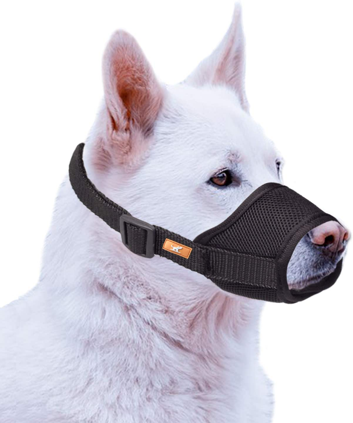 wintchuk Soft Dog Muzzle with Mesh Design, Breathable Dog Mouth Cover for Small Medium Large Dogs, Anti-Biting Barking Chewing