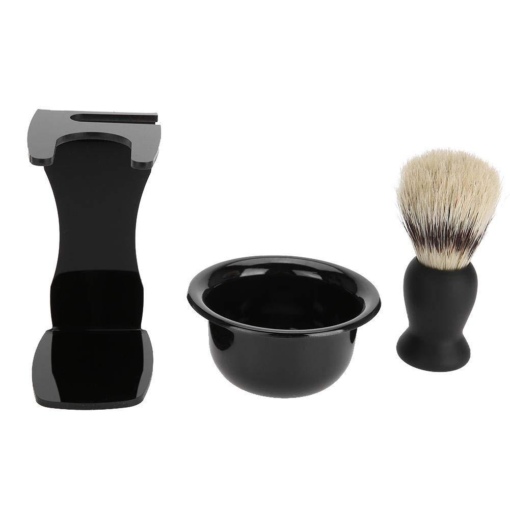 ANGGREK Men Beard Shaving Set Professional Brush Bowl Stand Holder Mustache Shaving Tool Men's Shaving Set for Bathroom, Shower Room