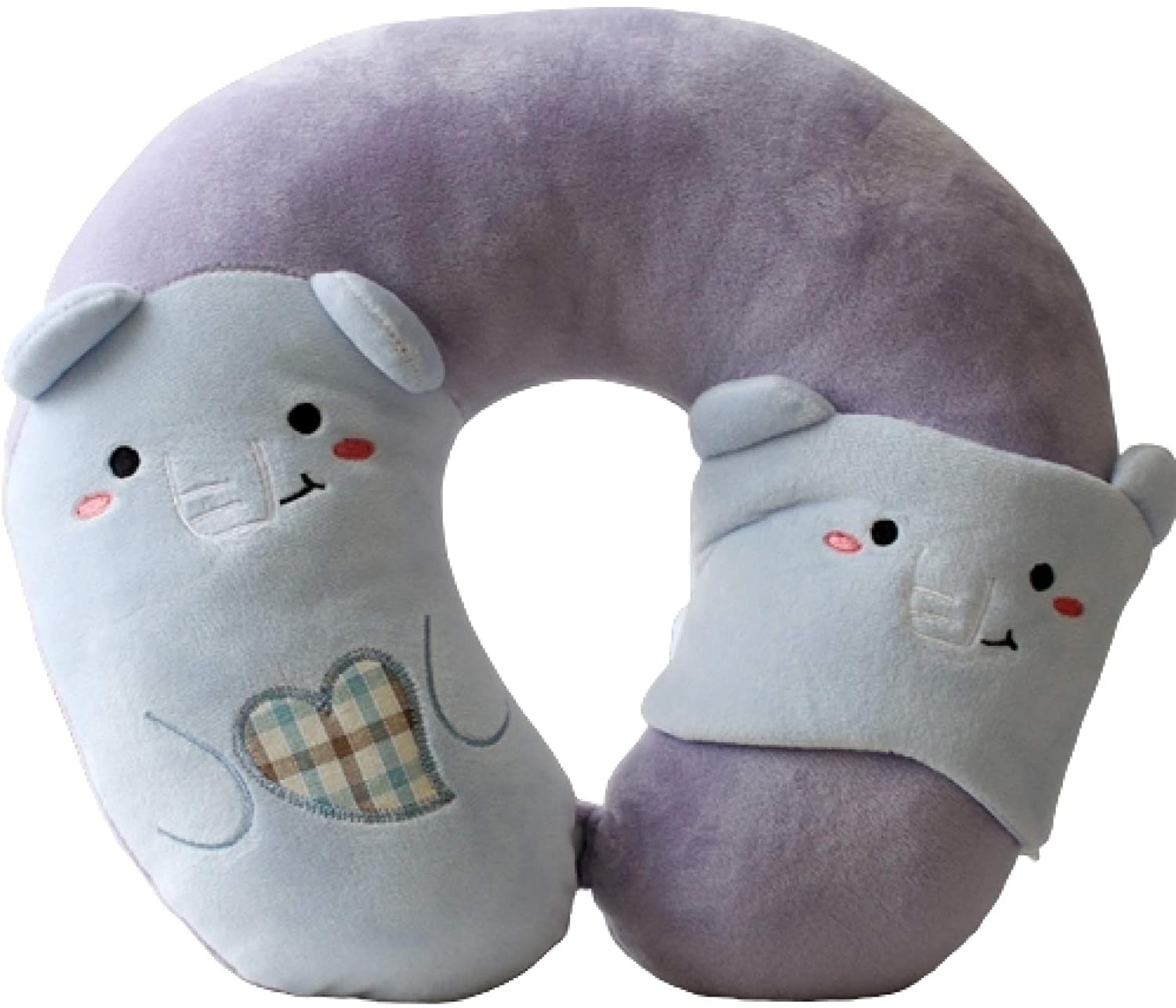 UKURO Travel Neck Pillows Convenience U-Shaped Animal Neck Pillows for Airplane Car Road Trips Bus Train or at Home