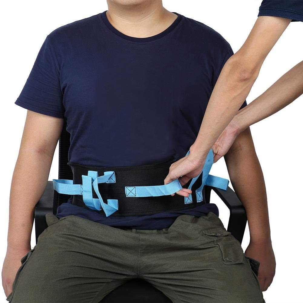 Gait Belt Transfer, Quick-Release Buckle Walking Moving Tool with Hand Grips for Patient Safety